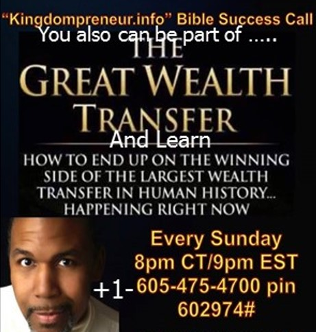You also can be part of the Great Wealth Transfer