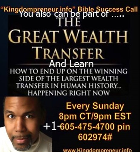 Be part of the great wealth Transfer