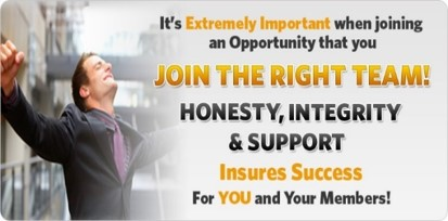 Honesty Integrety & Support will ensure success for you and your members